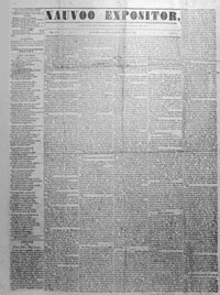 Nauvoo Expositor – 7 June 1844